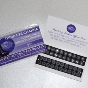 Indigo Swarovski Crystals, two shades. Third Eye Chakra.