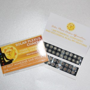 Yellow Swarovski Crystals, two shades. Solar Plexus Chakra.