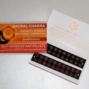 Orange Swarovski Crystals, two shades. Sacral Chakra.