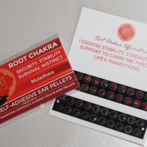Red Swarovski Crystals, two shades. Root Chakra.